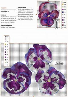 punto croce violette - Cerca con Google