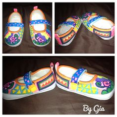 Doodle painted shoes for the g-baby!