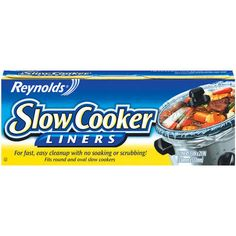 Reynolds Slow Cooker Liners. Where have you been all my life?? Seriously, one of the greatest inventions ever!