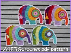 Crochet pdf pattern ELEPHANT by ATERGcrochet door ATERGcrochet, €2.75