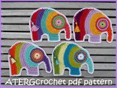 Crochet pdf pattern elephant by ATERGcrochet