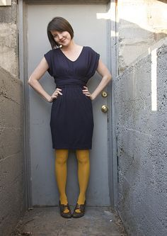 mustard tights. I have those shoes.