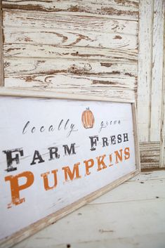 """This sign is perfect for Fall decor while showing its decorative farmhouse flair. This whimsical decor is made out of colorful, reclaimed wood and is perfect for indoor or outdoor use. Measures 24""""L x 1""""W x12""""H. Front Porch Fall Decor, Country Fall Decor, Vintage Fall Decor, Fall Home Decor, Fall Decor Signs, Fall Wood Signs, Fall Signs, Wooden Signs, Farmhouse Signs"""