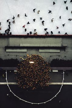 ERNST HAAS ESTATE | COLOR: NEW YORK Rockefeller Center Ice Skating Rink 1970s