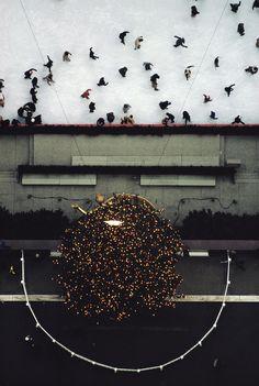 Ernst Haas, Rockefeller Center Ice Skating Rink, NY 1970s.