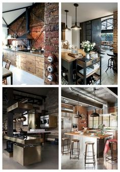 main Functional Industrial Kitchen Designs