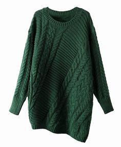 Irregular Hem Twist Knit Pullover