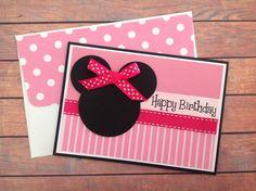 Handmade birthday card, female birthday card, homemade cards, girls birthday card, birthday card, pink card, handmade card, by PinkyPromiseBargains on Etsy