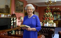 Queen Elizabeth II Combermere Barracks in Windsor 08 December 2003, where she recorded her Christmas Day message to the Commonwealth