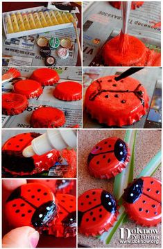 Check this iOS app with lots of DIY Project Ideas Easy Crafts For Kids, Diy Home Crafts, Diy Arts And Crafts, Summer Crafts, Diy Craft Projects, Diy For Kids, Crafts To Make, Project Ideas, Bottle Top Crafts