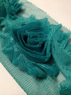 Green Chiffon Flowers by MonAmiePaperie on Etsy, $5.44