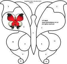 butterfly free stained glass pattern