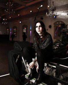 """The charming Chelsea Wolfe digging Bush Halls Victorian goth vibe before tonights gig"" Bush Hall (@Bushhallmusic) 