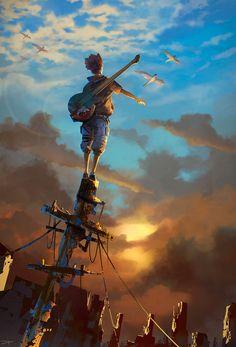 Illustrator, Arte Cyberpunk, Japon Illustration, Anime Scenery Wallpaper, Pretty Art, Animes Wallpapers, Aesthetic Art, Cartoon Art, Amazing Art