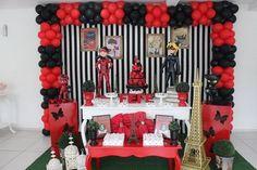 Bolos Decorados Miraculous – As Aventuras de Ladybug Baby Shower Balloons, Birthday Balloons, Miraculous Ladybug Party, Ladybug 1st Birthdays, Ladybug Cakes, Ladybug Girl, Butterfly Party, Girl Decor, Childrens Party