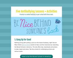 "Not an iLesson but a thoughtfully designed @Tackk on ""Five Antibullying Lessons + Activities."" - definitely relevant in this digital age"