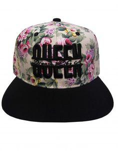 7b7fdbcf Dream Like A Queen Floral Women's Snapback Hat $19.95 Snapback Hats, Beanie  Hats, Beanies