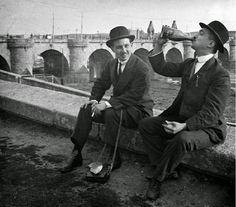 Una copita junto al rio. Puente de Toledo. Arganzuela.