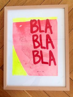 BLA BLA BLA via SKYREN. Click on the image to see more!