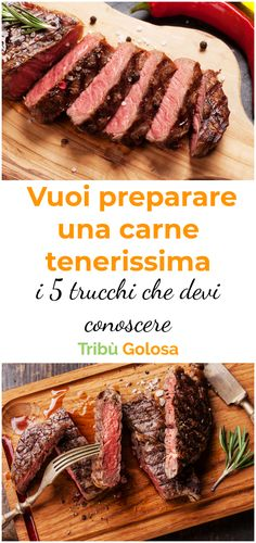 The 5 tricks you need to know to prepare a very tender meat Meat Steak, Food Porn, Le Chef, Soul Food, Italian Recipes, Food And Drink, Healthy Recipes, Dishes, Cooking