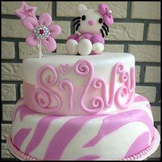 Hello Kitty Cake zebra/bling