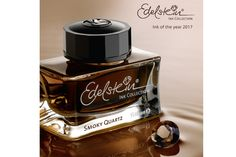 50ml bottle of Pelikan Edelstein Smoky Quartz grey-brown fountain pen ink. Set in a beautiful inkwell glass bottle. Limited quantity available for 2017.
