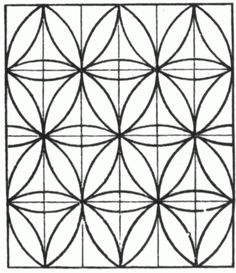 Simple Tessellation Printable Coloring Picture