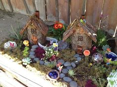Fairy Garden - this is so great. There's a whole blog on how they did it!