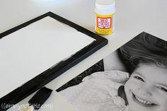 Put Pictures on Canvas Mod Podge