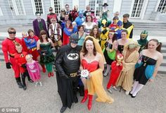 Superhero costume wedding.  Costumes and all!