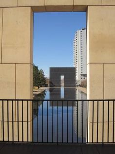 The reflecting pool at the Oklahoma City National Memorial, the site of Tim McVeigh's 1994 terro