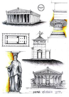Greek Architecture by dedeyutza.deviantart.com on @deviantART