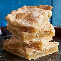 Let our Danish pastry apple bars pull double duty for dessert and breakfast the morning after. One recipe makes a whopping 32 servings of the flaky pastry treat.