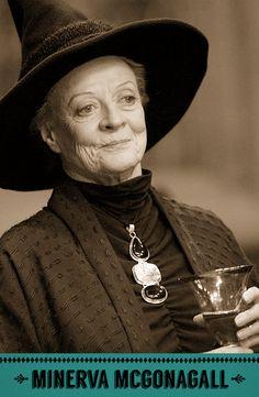 Minerva McGonagall, Transfiguration professor, Head of Gryffindor house, and Deputy Headmistress of Hogwarts.