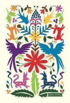 Arte Otom Para Colorear Otom Mexicano Pinterest