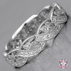 Wedding Band Art Nouveau Style - Special Order