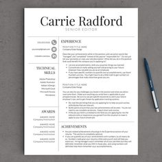 classic professional resume template for by landeddesignstudio - Free Teacher Resume Template