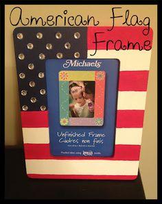 American Flag frame. Creativity & Cardigans: 30 Days of Preppy Crafting