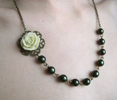 Green Pearls and Flower