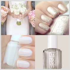 these would be beautiful wedding nails