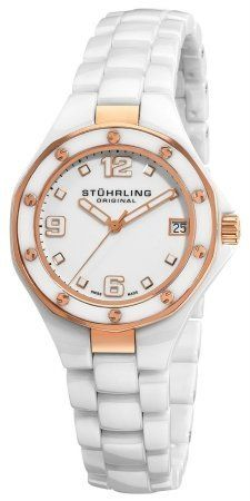 Stuhrling Original Women's 155.11EP3 Swiss Made Lady Apocalypse Noir Date Whi... * More info could be found at the image url.