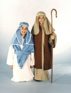 Biblical Mary Joseph costumes for kids
