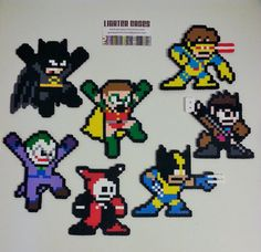 SuperHero Perler Bead Christmas Ornament - nintendo - dc comics - justice leauge