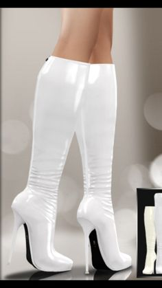 New Stylish Women Winter Over The Knee Boots Thin High Heels Boots Sexy 2019 Thigh High Boots, High Heel Boots, Knee Boots, Heeled Boots, Bootie Boots, Hot High Heels, Platform High Heels, White Boots, Sexy Boots