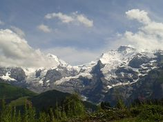 View to the Jungfrau - only the Mönch is hiding itself behind the clouds