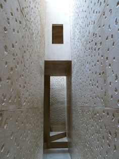 Interior of In-between architecture by Studio Mumbai at the V museum July 2010