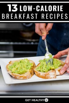 These 13 high protein, low-calorie breakfast recipes are sure to fill you up and boost your energy without weighing you down. Low Calorie Breakfast, Healthy Breakfast Recipes, Breakfast Ideas, Keto Recipes, Healthy Recipes, Fiber Rich Foods, High Protein Snacks, Get Healthy, Healthy Food