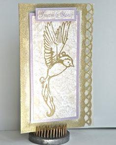 Kanban Card I created using Martha Stewart Punch and Kanban stamp/paper.