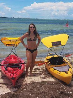 Kayak sunshade for your kayak and pleasure days in sunlight! - Kayak sunshade for the kayak and enjoyment days in sunlight! Kayak Boats, Canoe And Kayak, Fishing Boats, Sea Kayak, Kayak Cooler, Hobie Kayak, Bass Fishing, Kayak Storage Rack, Kayak Rack