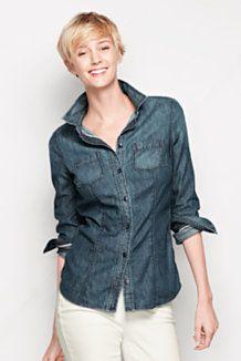 Women's Long Sleeve Denim Shirt Shop
